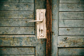 Oude gesloten deur — Stockfoto