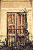 Old grunged door — Stock Photo
