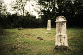 Old cemetery and gravestone — Stock Photo
