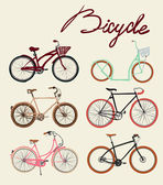 Bicycles set — Wektor stockowy
