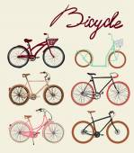 Bicycles set — Stockvektor