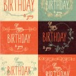 Set happy birthday hand lettering — Stock Vector #53824061