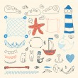 Set of cute retro sea objects — Stock Vector #56041361