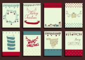 Set of Christmas Calligraphic Design Elements — Stockvector