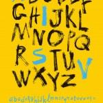 Handwritten alphabet and numbers — Stock Vector #62890759