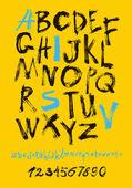 手写的字母和数字 — 图库矢量图片