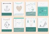 Greeting card  collection. — Stock Vector