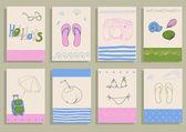 Greeting card set — Stock Vector