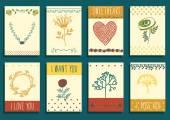 Floral design elements — Vetor de Stock