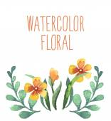 Watercolor floral bouquet. — Stock Vector