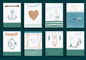 Greeting cards set — Stock Vector