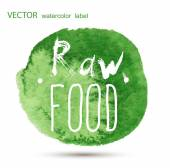 Raw vegan food. calligraphy watercolor — Stock Vector