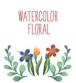 Watercolor floral bouquet. — Stock Vector