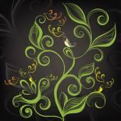 Decorative floral design. — Stock Vector