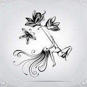 Fabulous swing  illustration — Stock Vector