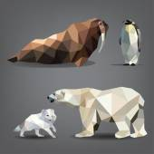 Set of animals of the north — Stock Vector