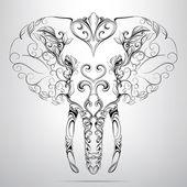 装饰大象的头 — 图库矢量图片