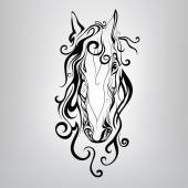 Silhouette of a horse's head — Stock Vector