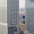 Warsaw downtown - aerial photo of modern skyscrapers — Stock Photo #59700467