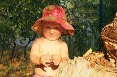 Smiling little child — Stock Photo
