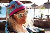 Girl wearing sunglasses — Stock Photo