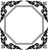 Frame of Thai pattern — Vetorial Stock