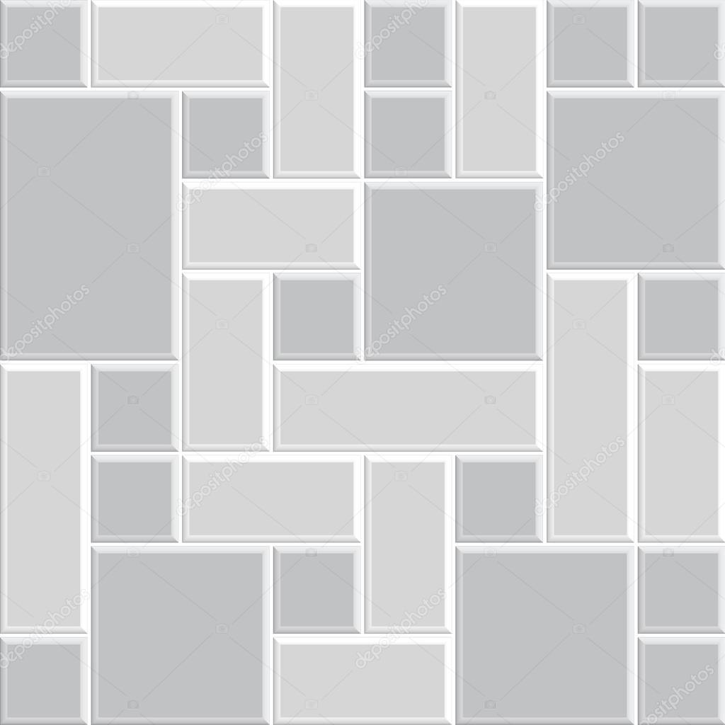 美丽的灰色花纹瓷砖地板,墙壁,室内,装饰,三维矢量现代风格设计—