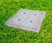 бетонных канализационных люков — Стоковое фото