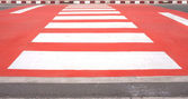 Red zebra crossing — Stock Photo