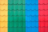 Colorful metal sheet roof — ストック写真