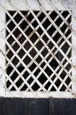 Cross wooden window — Stockfoto
