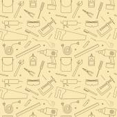 Seamless Workshop Tools Pattern — Stock Vector