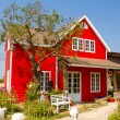 Beautiful red house — Stock Photo #63854681