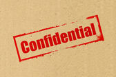 Confidential stamping on Brown Paper — Photo