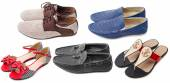 Collection of various types shoes — Stock Photo