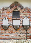 Three ancient wash basin — Stock Photo