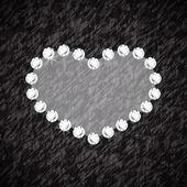 Heart symbol of brilliant diamonds — Stock vektor