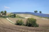 Solar power plant in rural Italy — Stock Photo