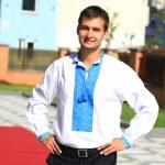 Young man - ukrainian patriot — Stock Photo #52559535