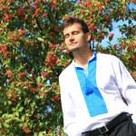 Young man - ukrainian patriot — Stock Photo #52559567