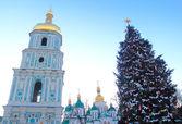 Christmas in kiev, ukraine — Foto Stock