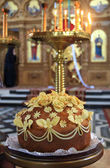 Wedding bread in church — Stock Photo