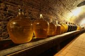 Wine demijohns — Stock Photo