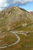 Alpine road detail — Stock Photo
