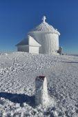 Chapel on Snezka mountain — Stock Photo