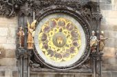 Part of astronomical clock — Stockfoto