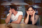 Cute Young Couple Arguing — Stock Photo