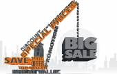 Big Sale 3D Text Crane — Stok Vektör