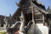 Northern Thai art temple church — Stock Photo