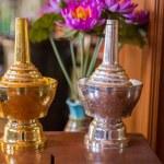 Gold silver Thai bottle — Stock Photo #63983587